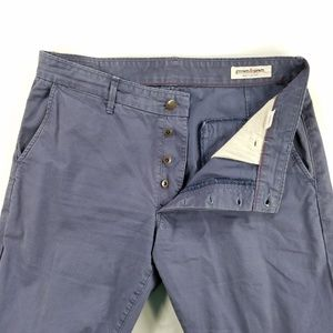 Grown & Sewn Buttonfly Straight Leg Chino Pants